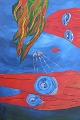 """Waterworld"" Painting Acrilic on canvas © 2009 Painter Giselle Lebrun"