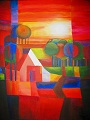 """Rojo voor Wubke"" Painting Acrilic on canvas ©  Painter Tinus Willemsen"